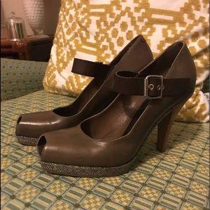 EUC Marni Peep-toe Mary Jane heel with a platform